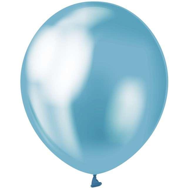 """Balony """"Beauty and Charm"""", niebieski platynowy, GODAN, 12"""", 50 szt."""