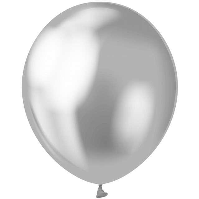 "Balony ""Beauty and Charm"", srebrny platynowy, GODAN, 12"", 50 szt."