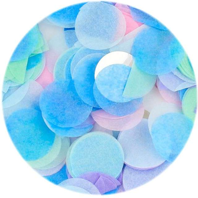 """Konfetti """"Kółeczka papierowe"""", pastel mix, Godan, 15 g"""