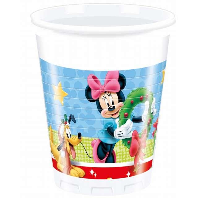 """Kubeczki plastikowe """"Mickey Christmas"""", Procos , 200 ml, 8 szt"""