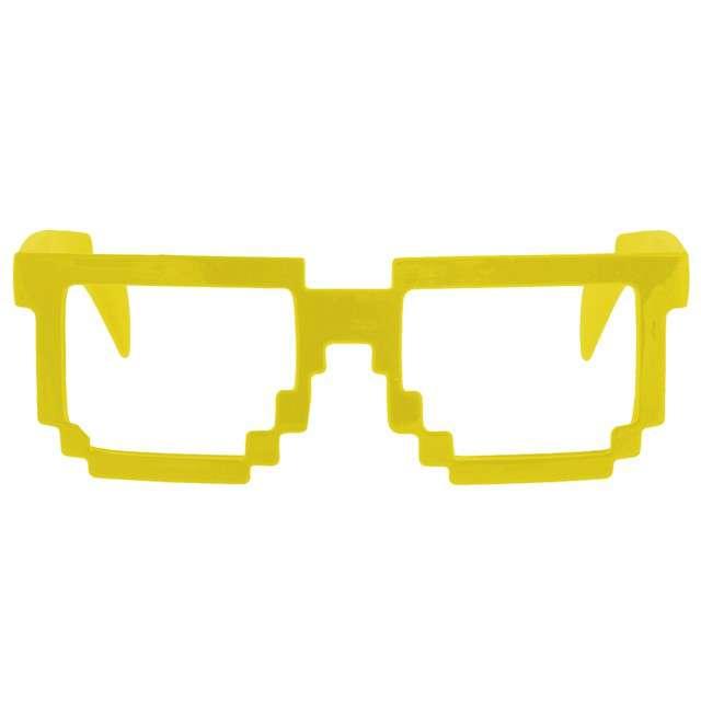 """Okulary party """"8 Bit Pixel"""", żółte, GODAN"""