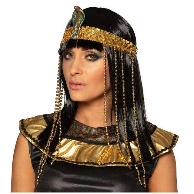 "Peruka party ""Kleopatra - Egipska Królowa"", czarna, Boland"