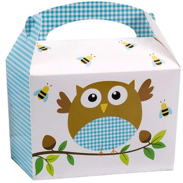 """Pudełko na ciasto """"Little Ows"""", niebieskie, Godan, 8 szt"""