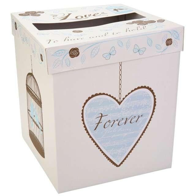 "Pudełko na koperty ""Lover - Blue "", Godan, 15x17 cm"