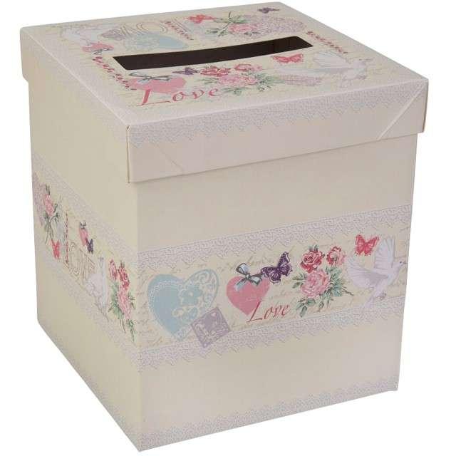 "Pudełko na koperty ""With Love"", Neviti, 15x17 cm"