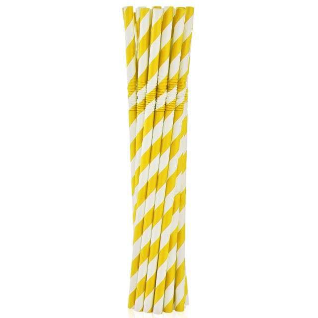 """Słomki papierowe łamane """"Classic"""", Godan, żółte, 20 cm, 100 szt"""