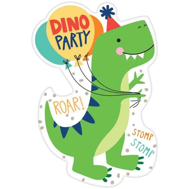 """Zaproszenia urodzinowe """"Dinozaur party"""", Amscan, 8 szt"""