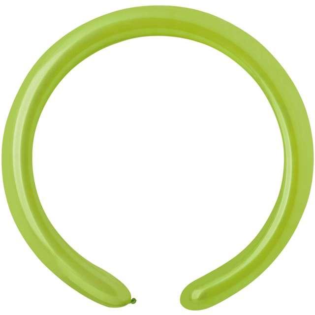 """Balony """"Modeliny 160"""", zielone jasne, GEMAR, 100 szt"""