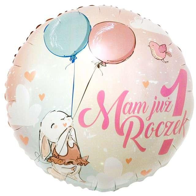 """Balon foliowy """"Mam już roczek - króliczek"""", Godan, 18"""""""