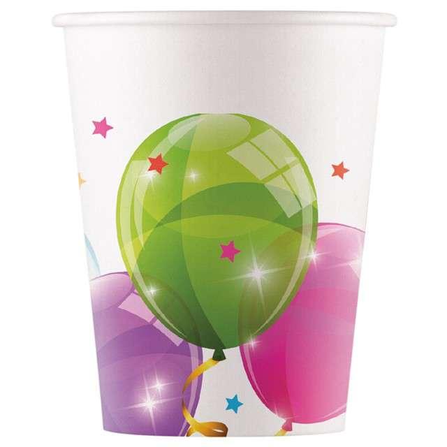 """Kubeczki papierowe """"Sparkling Balloons"""", PROCOS, 200 ml, 8 szt"""
