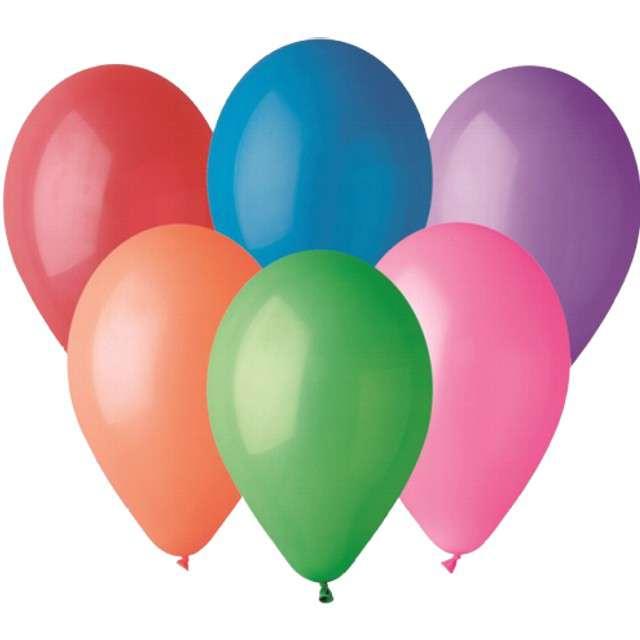 """Balony """"Pastelowe"""", mix, Gemar, 13"""", 50 szt"""
