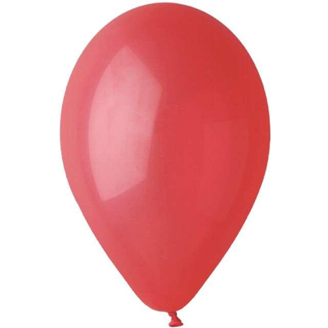 """Balony """"Pastelowe"""", czerwone, Gemar, 13"""", 50 szt"""