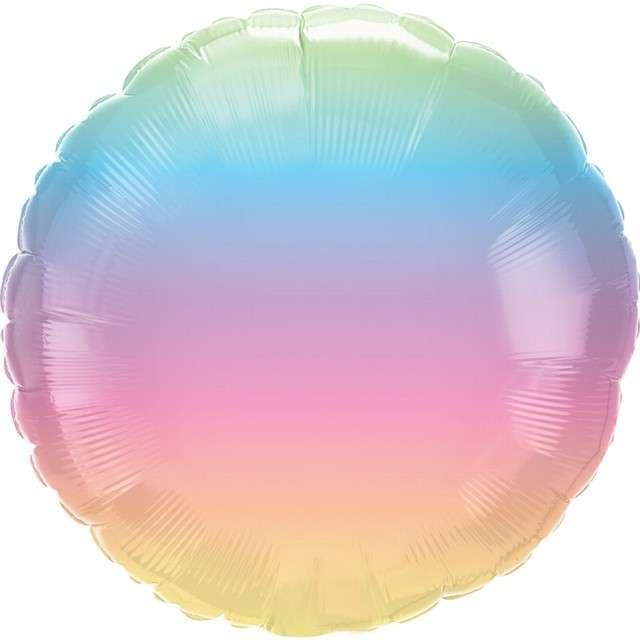 "Balon foliowy ""Pastel Ombre"", Qualatex, 18"" RND"