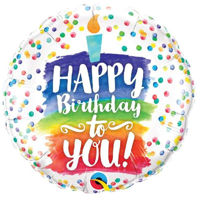 "Balon foliowy ""Happy Birthday to You"", Qualatex, 18"" RND"