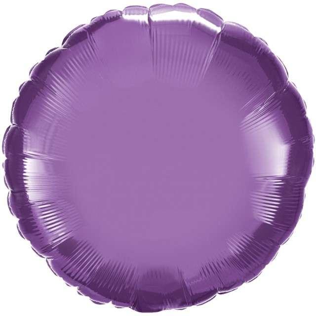 """Balon foliowy """"Okrągły"""", fioletowy chrom, QUALATEX, 18"""" RND"""
