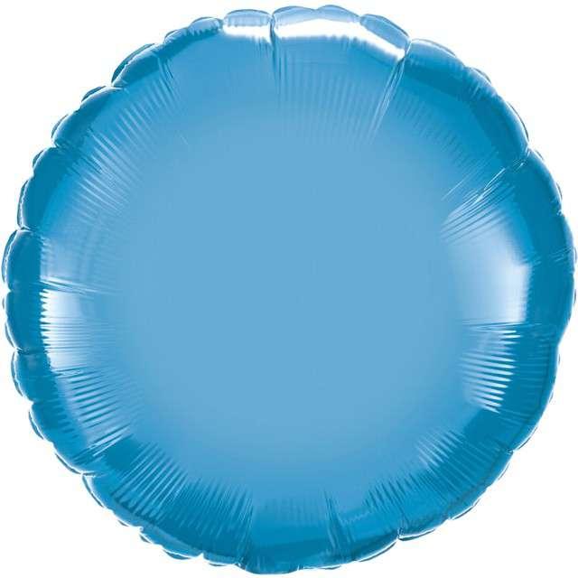 """Balon foliowy """"Okrągły"""", niebieski chrom, QUALATEX, 18"""" RND"""