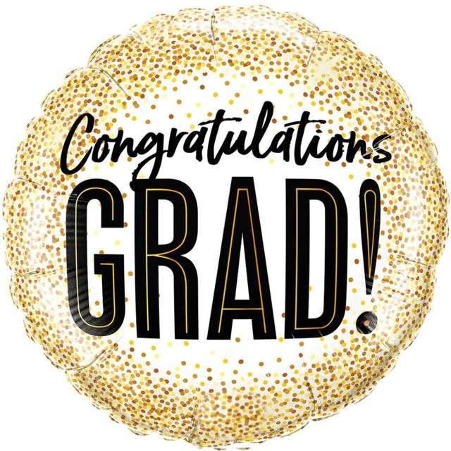 """Balon foliowy """"Congratulations Grad"""", Qualatex, 18"""" RND"""