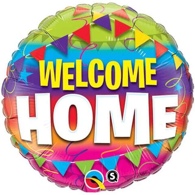"Balon foliowy ""Welcome Home"", Qualatex, 18"" RND"