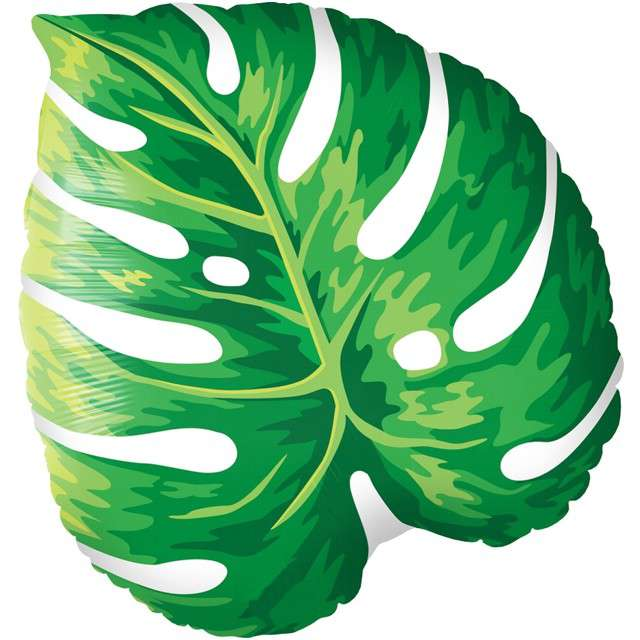 "Balon foliowy ""Liść Monstera"", QUALATEX, 21"" SHP"