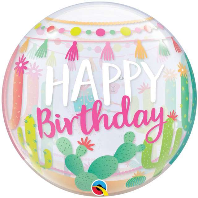"""Balon foliowy """"Happy Birthday - Lama"""", QUALATEX, 22"""" ORB"""