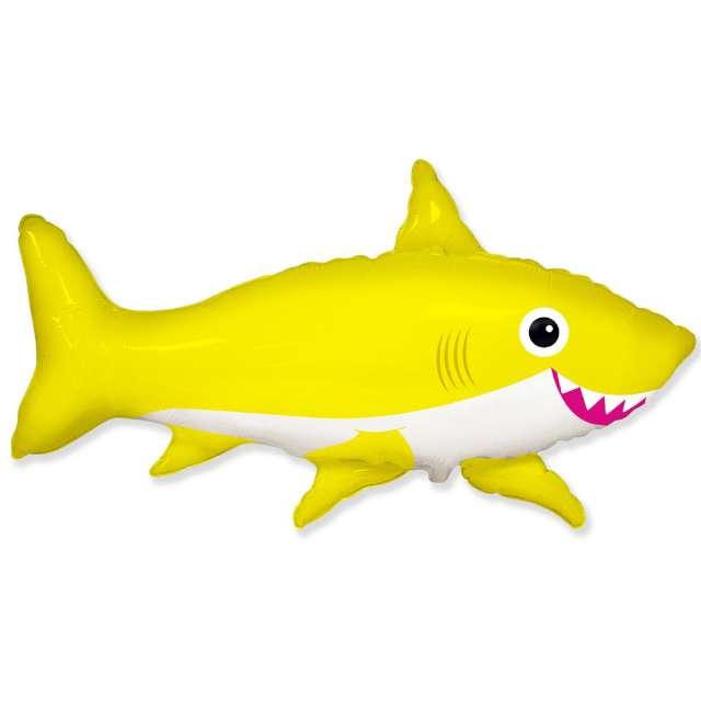 """Balon foliowy """"Rekin Uśmiechnięty"""", żółty, Flexmetal, 24"""""""