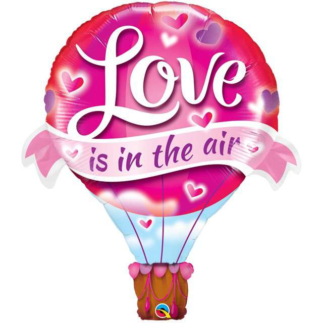"Balon foliowy ""Love is in the air"", QUALATEX, 42"" SHP"