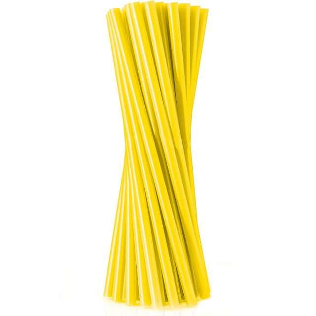 "Słomki proste ""Jumbo - grube"", żółte, Godan, 24 cm, 100 szt"