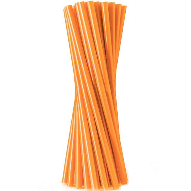 """Słomki proste """"Jumbo - grube"""", pomarańczowe, Godan, 24 cm, 100 szt"""