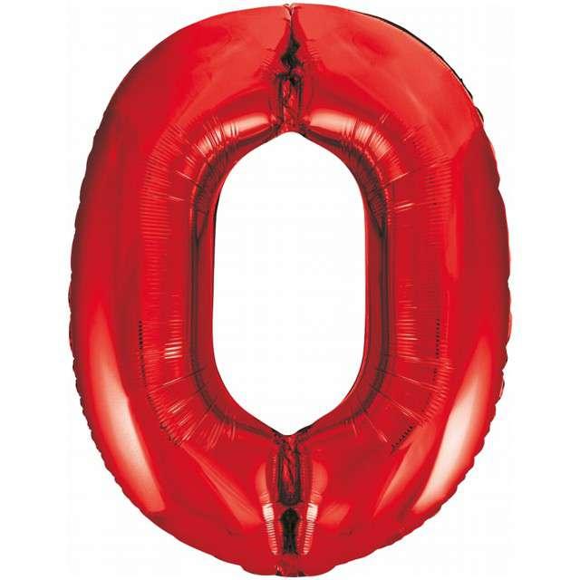 """Balon foliowy """"Beauty and Charm - Cyfra 0"""", czerwony, GODAN, 33"""""""