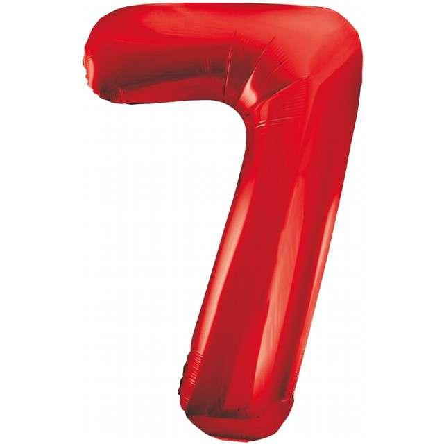 """Balon foliowy """"Beauty and Charm - Cyfra 7"""", czerwony, GODAN, 33"""""""