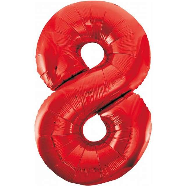 """Balon foliowy """"Beauty and Charm - Cyfra 8"""", czerwony, GODAN, 33"""""""