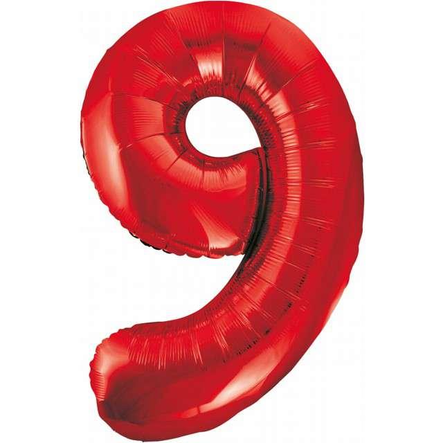 """Balon foliowy """"Beauty and Charm - Cyfra 9"""", czerwony, GODAN, 33"""""""