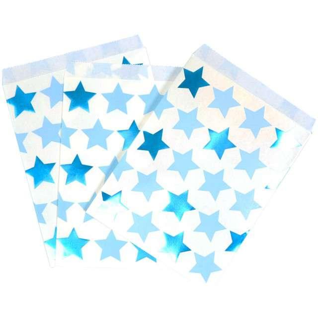 """Torebki papierowe """"Little Star"""", Godan, niebieskie, 25 szt"""
