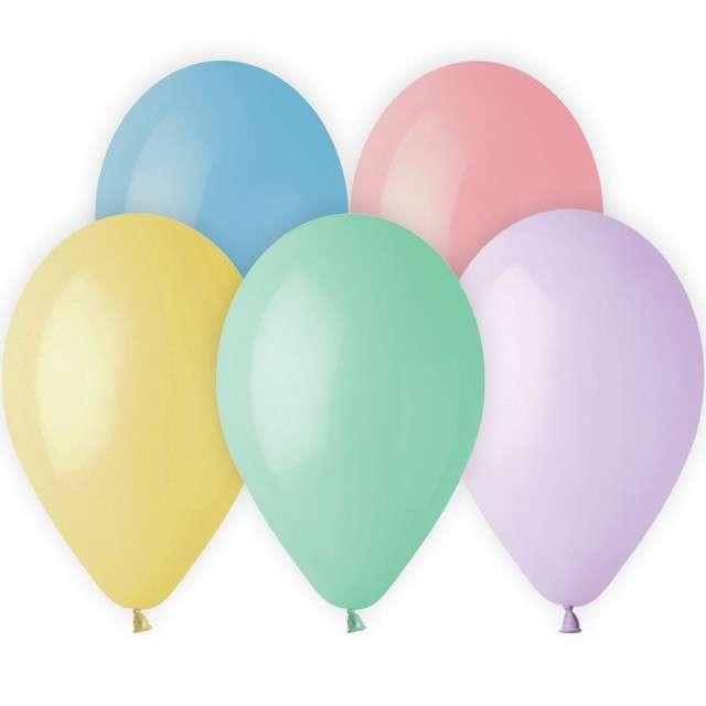 "Balony ""Classic"", pastel, 13"", Gemar, 10 szt."
