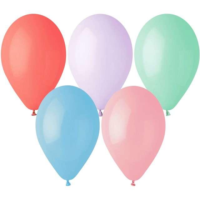 """Balony """"Pastelowe"""", pastel mix, Gemar, 13"""", 50 szt"""
