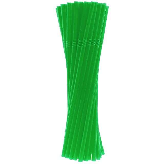"""Słomki łamane """"Classic"""", zielone, Godan, 24 cm, 40 szt"""