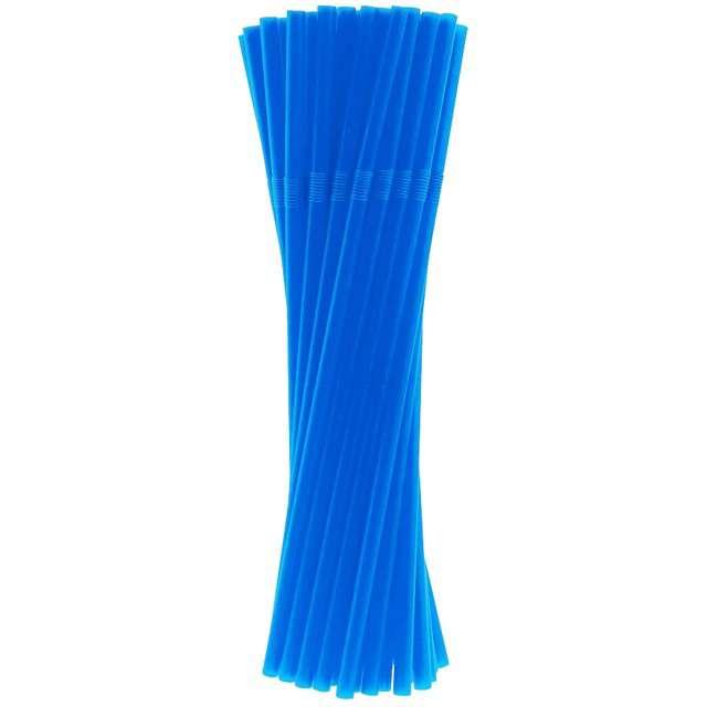 """Słomki łamane """"Classic"""", niebieskie, Godan, 24 cm, 40 szt"""