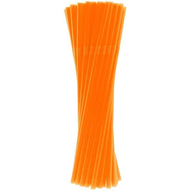 """Słomki łamane """"Classic"""", pomarańczowe, Godan, 24 cm, 40 szt"""