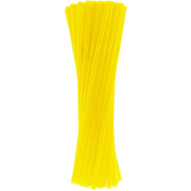 """Słomki łamane """"Classic"""", żółte, Godan, 24 cm, 40 szt"""