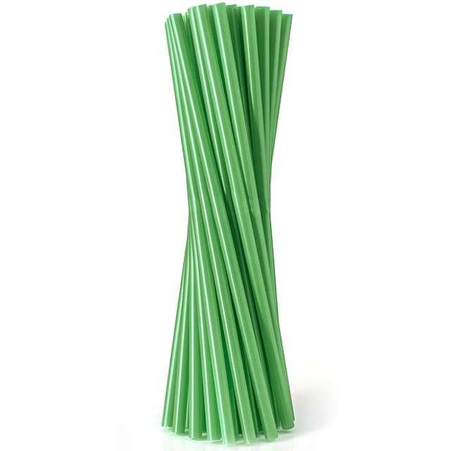 """Słomki proste """"Classic - grube"""", zielone, Godan, 24 cm, 100 szt"""