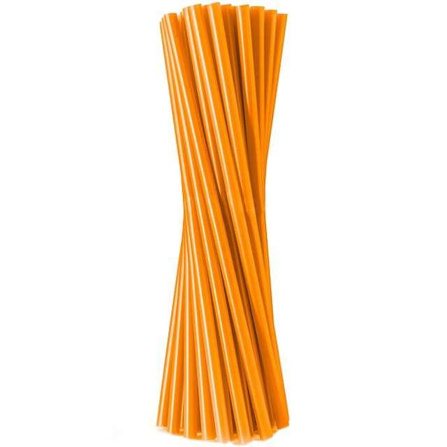 """Słomki proste """"Classic - grube"""", pomarańczowe, Godan, 24 cm, 20 szt"""