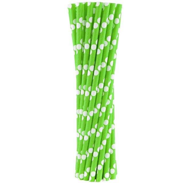 """Słomki papierowe """"BIO Grochy"""", Godan, zielone, 20 cm, 24 szt"""