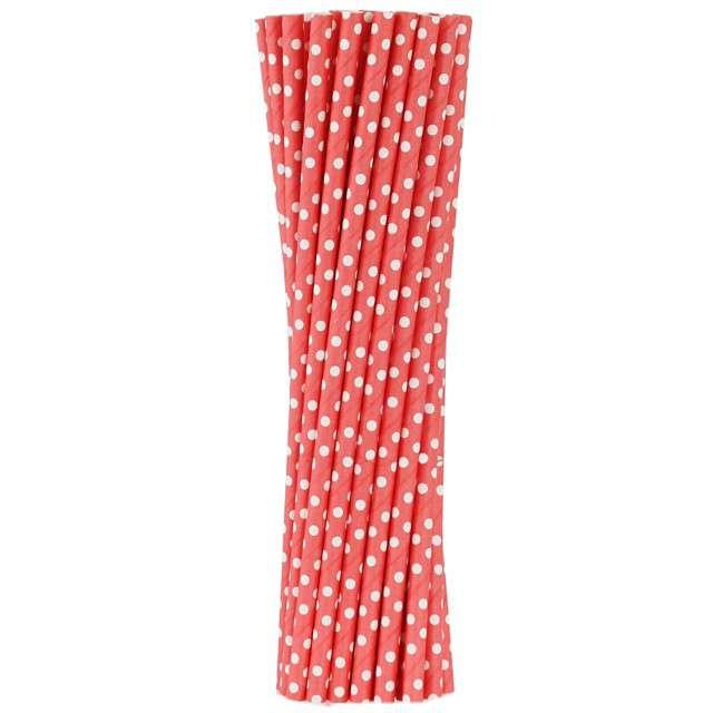 """Słomki papierowe """"BIO Grochy"""", Godan, czerwone, 20 cm, 250 sz"""