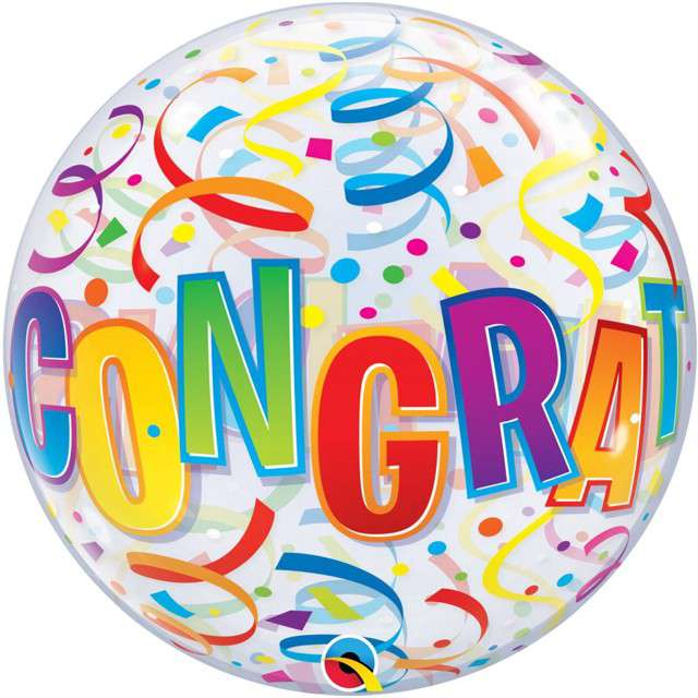 "Balon foliowy ""Congratulations"", Qualatex, 22"" ORB"