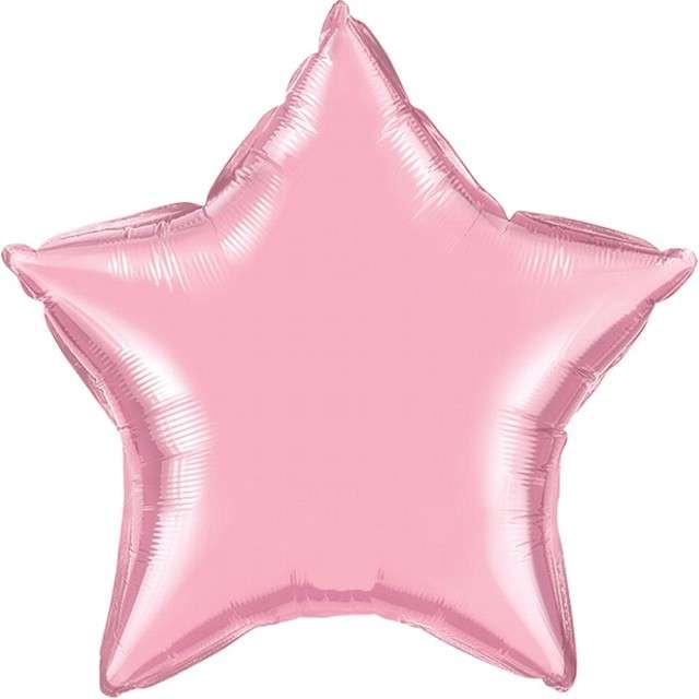 "Balon foliowy ""Gwiazda"", różowy, QUALATEX, 9"" STR"