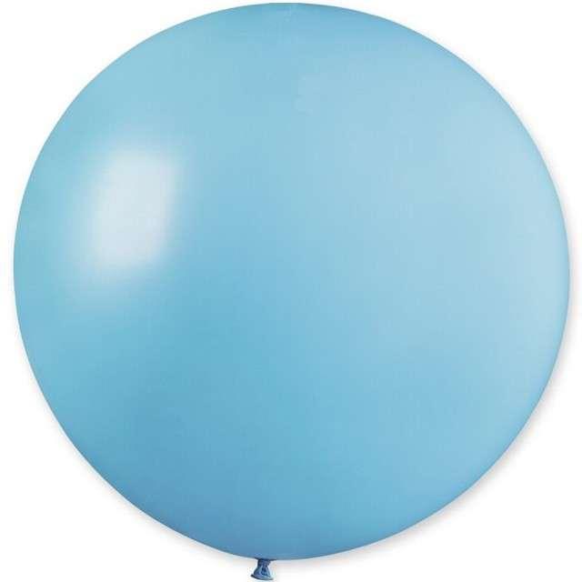 """Balon olbrzym """"Classic"""", niebieski jasny pastel, GEMAR, 80 cm"""