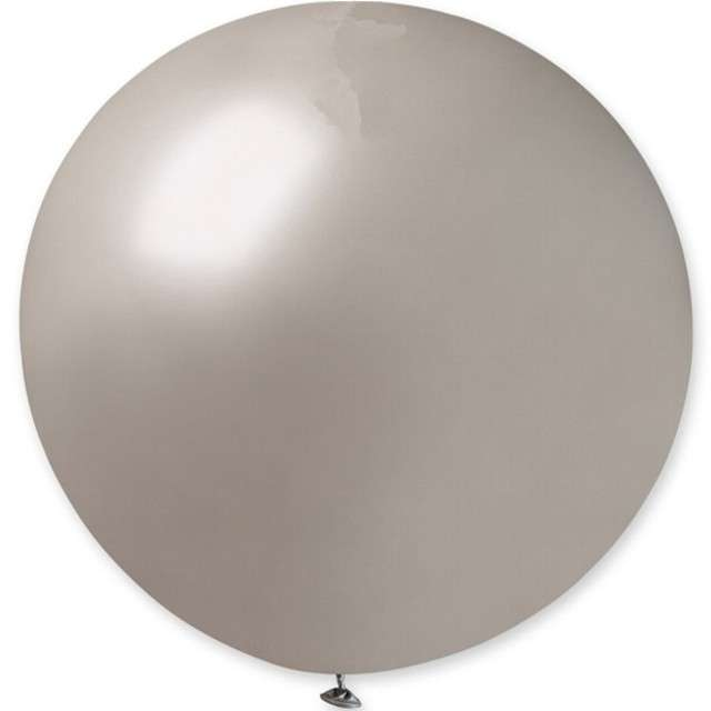 "Balon olbrzym ""Classic"", srebrny metalik, GEMAR, 80 cm"