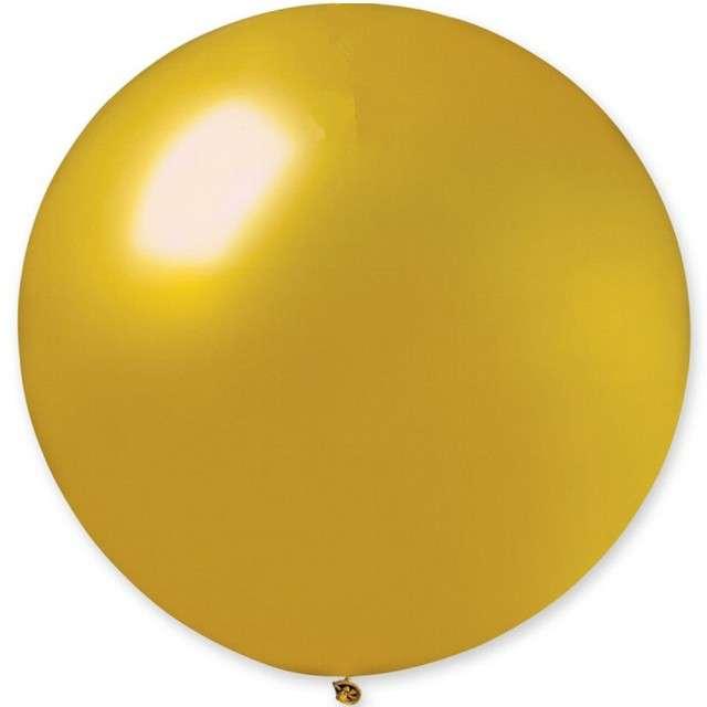 """Balon olbrzym """"Classic"""", złoty metalik, GEMAR, 80 cm"""