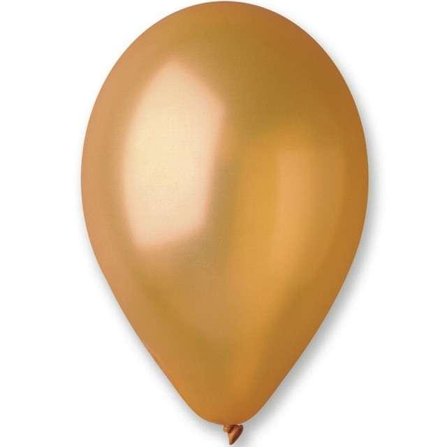 """Balony """"Classic"""", złoty metalik, GEMAR, 13"""", 50 szt"""