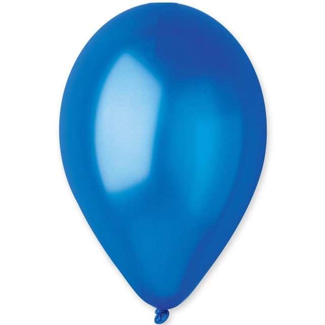 """Balony """"Classic"""", niebieski ciemny metalik, GEMAR, 13"""", 50 szt"""